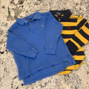 2 polo long sleeve shirts